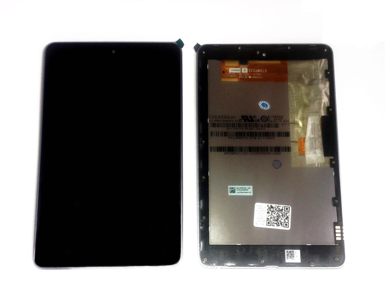 Дисплей (LCD) планшет Asus Nexus 7 google | me370 с тачскрином, чёрный ориг. к-во с рамкой (2012) (WIFI)