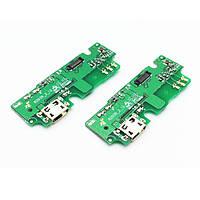 Плата нижняя (плата зарядки) Lenovo K6 Note | K53A48 с разъемом зарядки и компонентами