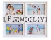 """Фоторамка 4 фото белая """"Family"""""""