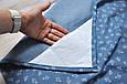 Накидка для кормления + сумочка-чехол, Цветочный джинс, фото 4
