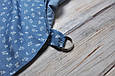 Накидка для кормления + сумочка-чехол, Цветочный джинс, фото 5