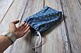 Накидка для кормления + сумочка-чехол, Цветочный джинс, фото 8