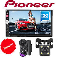"Автомагнитола 2Din Pioneer 7022CRBG 7"" Экран, GPS, Bluetooth, КАМЕРА ЗАДНЕГО ВИДА!, фото 1"
