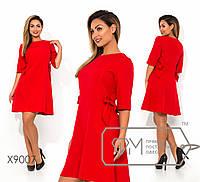 65dbf709c8c Платье-трапеция большого размера с бантами по бокам fmx9007