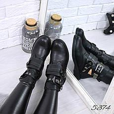 """Ботинки, ботильоны черные """"Balman"""" эко кожа, повседневная, теплая, демисезонная, осенняя, женская обувь, фото 2"""