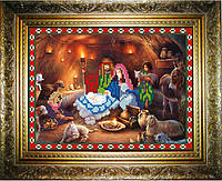 Рисунок на ткани для вышивки бисером Рождество Христово