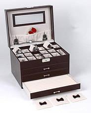 Шкатулка для бжутерии, ювелирных украшений 27см БРОНЗОВАЯ, фото 3