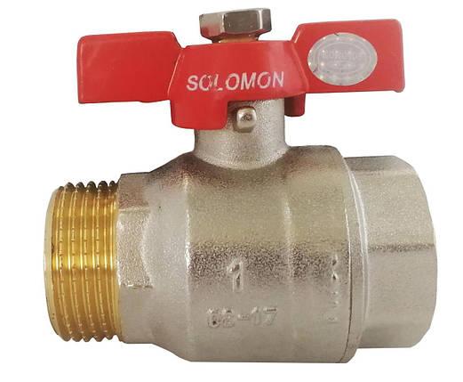 """Кран шаровый  Solomon  B1015 КБ  3/4""""  НВ  PN30, фото 2"""
