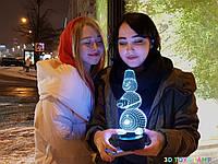 """Детский ночник - светильник """"Снеговик 2"""" 3DTOYSLAMP, фото 1"""