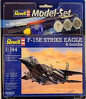 Model Set Истребитель F-15E STRIKE EAGLE & bombs, 1:144, Revell