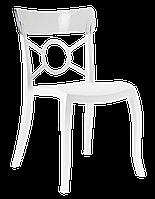 Стул Papatya Opera-S сиденье белое, верх прозрачно-чистый, фото 1
