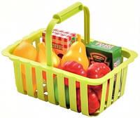 Корзина для супермаркета с продуктами детская, от 18 месяцев
