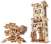 Башня-Аркбаллиста, механический 3D пазл, Ukrainian Gears
