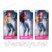 Кукла шарнирная типа барби Defa на скейте