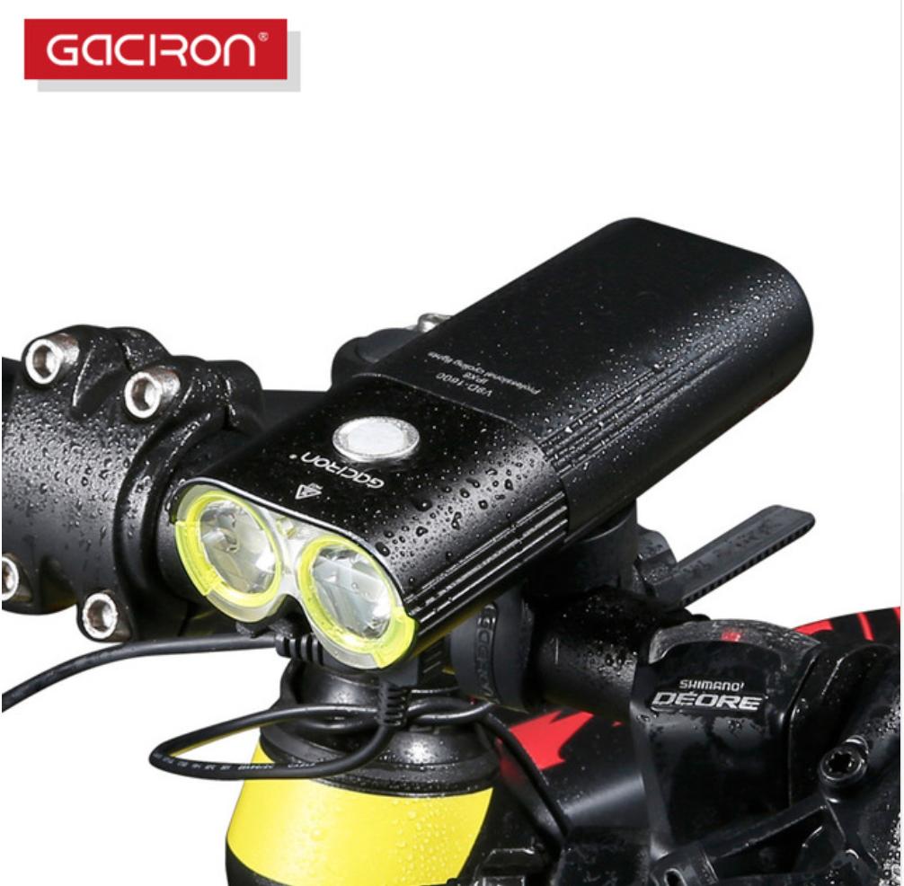 Велосипедна фара Gaciron V9D-1600 IPX6 1600 люмен 5000мАч + виносна кнопка на кермо