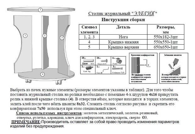 """Журнальный стол """"Элегия"""", фото 2"""