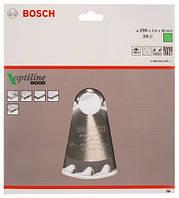 BOSCH Optiline Wood 190х2,0х30 мм, 24 зуба - Пильний диск для циркулярних пилок ручних