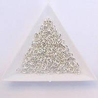 Соединительные колечки диаметр 4 мм толщина 0,7 мм св. серебро (примерно 0,5 кг)