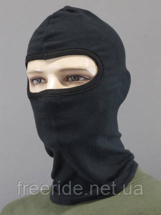 Теплая зимняя маска - балаклава флисовая (черный) 55-58, фото 2