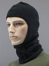 Теплая зимняя маска - балаклава флисовая (черный) 55-58, фото 3