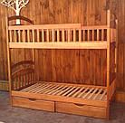 Двох'ярусне дитяче ліжко Карина з ящиками і матрацами. Вищий сорт без сучків, фото 4