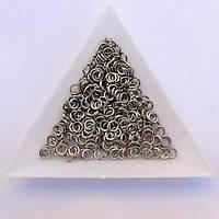 Соединительные колечки диаметр 4 мм толщина 0,7 мм сталь (примерно 0,5 кг)
