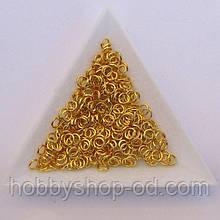 Соединительные колечки диаметр 4 мм толщина 0,7 мм золото (примерно 0,5 кг)