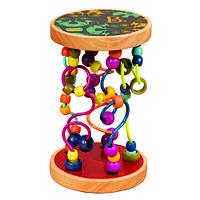 Развивающая деревянная игрушка - РАЗНОЦВЕТНЫЙ ЛАБИРИНТ