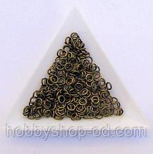Соединительные колечки диаметр 4 мм толщина 0,7 мм бронза (примерно 0,5 кг)