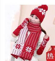 Комплект шапка шарф перчатки, фото 1
