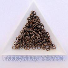 Соединительные колечки диаметр 4 мм толщина 0,7 мм медь (примерно 0,5 кг)