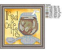 Схема для вышивки бисером Кофе Гляссе
