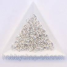 Соединительные колечки диаметр 5 мм толщина 0,7 мм св. серебро (примерно 0,5 кг)