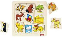 Пазлы для малышей Кто где живет? (9 элементов), Goki