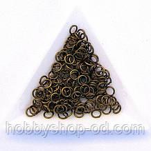 Соединительные колечки диаметр 5 мм толщина 0,7 мм бронза (примерно 0,5 кг)