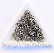 З'єднувальні кільця діаметр 6 мм товщина 0,7 мм сталь (приблизно 0,5 кг)