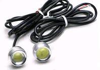 Светодиодный линзованный мини светильник 12V 1.5W Вт с гайкой хром Код.58111