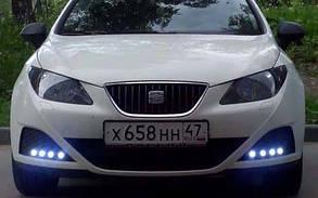 Светодиодный линзованный мини светильник 12V 1.5W Вт с накладной черный Код.58113, фото 2