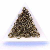 Соединительные колечки диаметр 6 мм толщина 0,7 мм бронза (примерно 0,5 кг)