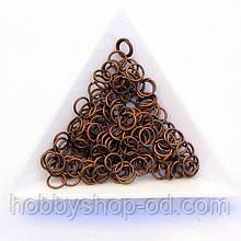 Соединительные колечки диаметр 6 мм толщина 0,7 мм медь (примерно 0,5 кг)