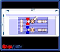 Внутрипольный конвектор Radopol KV 14 350*2250