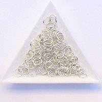Соединительные колечки диаметр 7 мм толщина 0,7 мм св. серебро (примерно 0,5 кг)