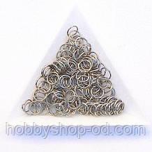 Соединительные колечки диаметр 7 мм толщина 0,7 мм сталь (примерно 0,5 кг)