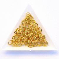 Соединительные колечки диаметр 7 мм толщина 0,7 мм золото (примерно 0,5 кг)