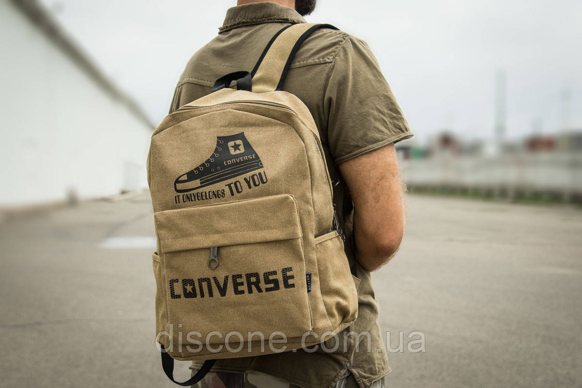 Рюкзак унисекс ► Converse, песочные (90014), р. (нет на складе) П Р О Д А Н О! ✔ЧеРнАяПяТнИцА