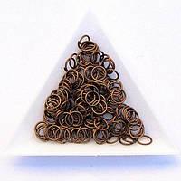 Соединительные колечки диаметр 7 мм толщина 0,7 мм медь (примерно 0,5 кг)