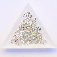 Соединительные колечки диаметр 8 мм толщина 1,2 мм св. серебро (примерно 0,5 кг)
