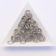 Соединительные колечки диаметр 8 мм толщина 0,7 мм сталь (примерно 0,5 кг)