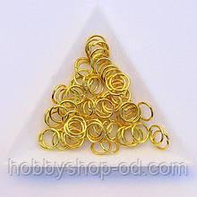 Соединительные колечки диаметр 8 мм толщина 0,7 мм золото (примерно 0,5 кг)