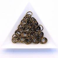 Соединительные колечки диаметр 8 мм толщина 0,7 мм бронза (примерно 0,5 кг)